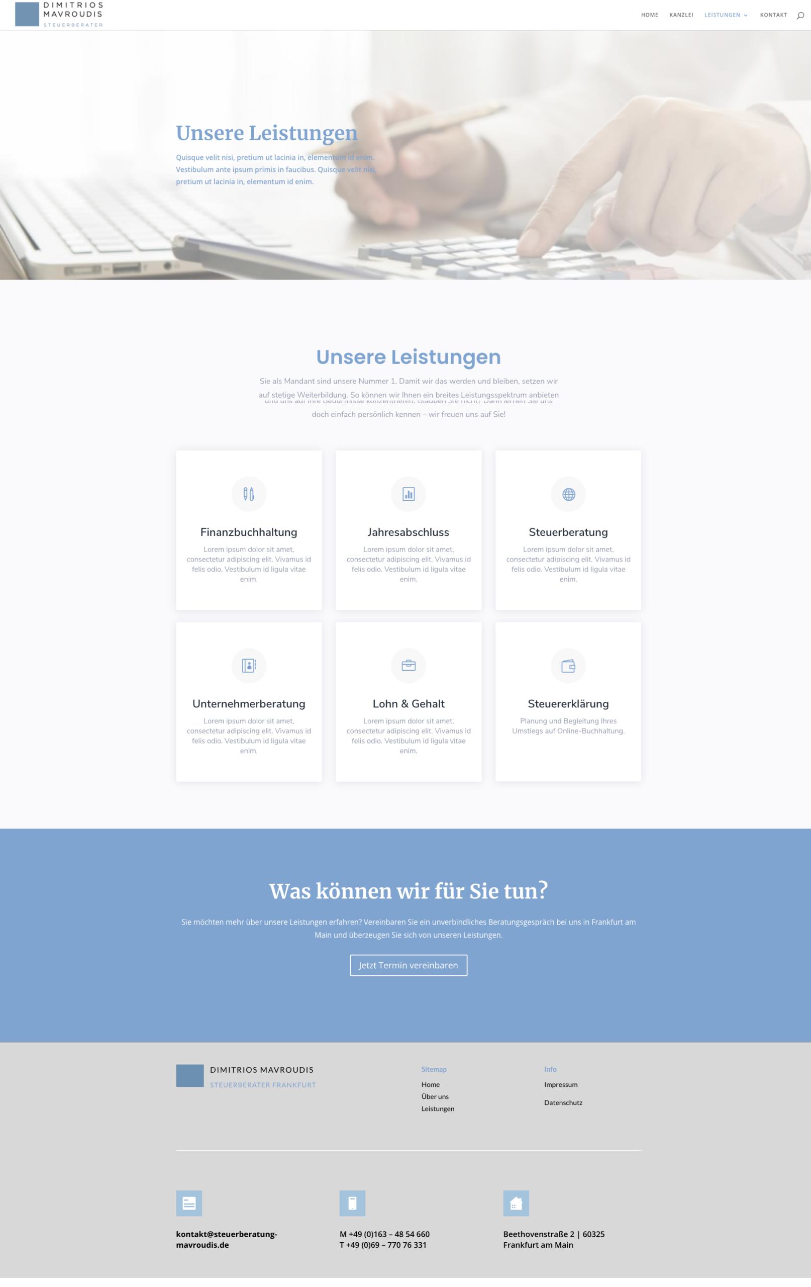 Webdesign Homepage Referenz