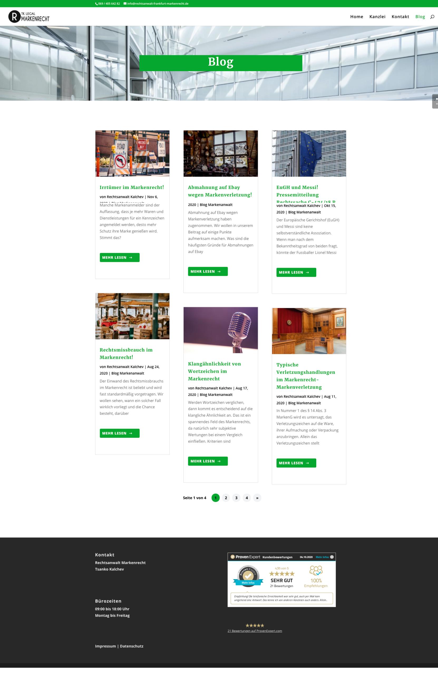 Referenz Anwalt Webseite
