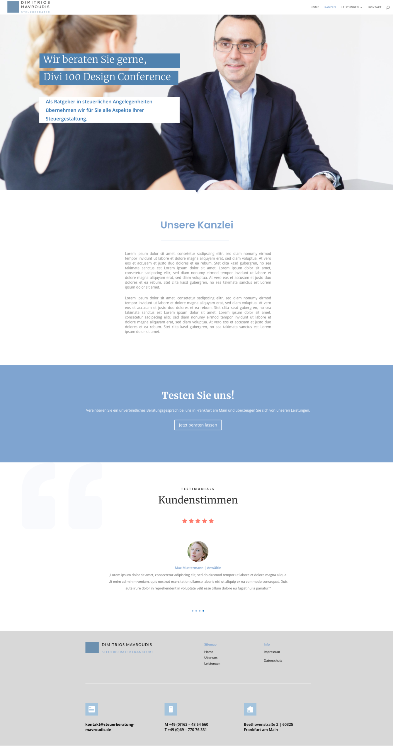 Referenz Webdesign Homepage